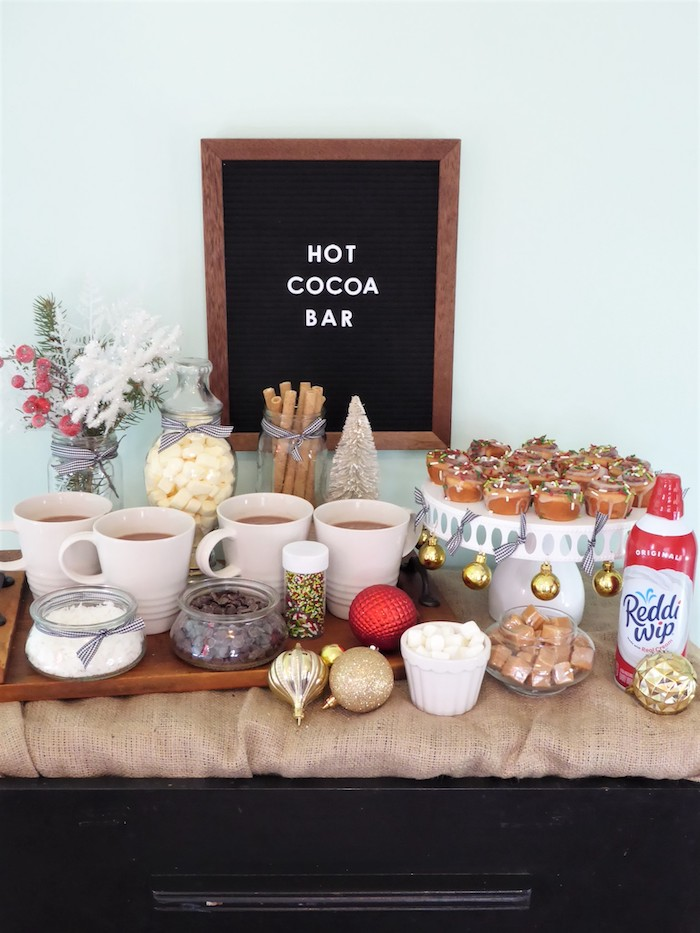 DIY Christmas Hot Cocoa Bar on Kara's Party Ideas | KarasPartyIdeas.com
