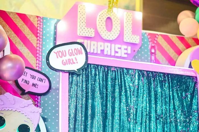 LOL Surprise Backdrop from a Glitter-ific LOL Surprise Birthday Party on Kara's Party Ideas | KarasPartyIdeas.com (9)