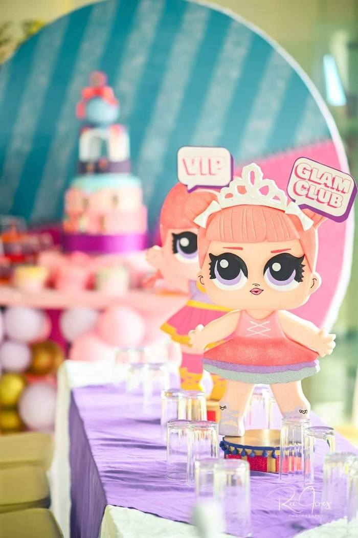 LOL Surprise Doll Table Centerpiece + Guest Table from a Glitter-ific LOL Surprise Birthday Party on Kara's Party Ideas | KarasPartyIdeas.com (17)