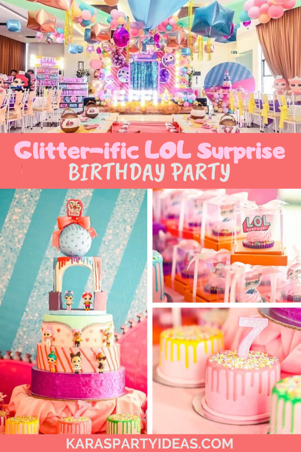 Glitter-ific LOL Surprise Birthday Party via Kara's Party Ideas - KarasPartyIdeas.com