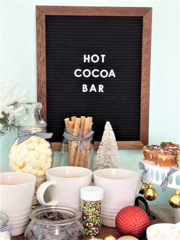 Christmas Hot Cocoa Bar on Kara's Party Ideas | KarasPartyIdeas.com