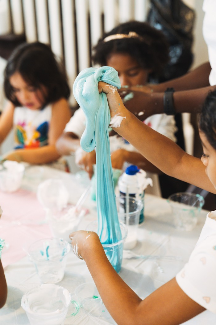Slime - Science Experiment from a Modern Glamorous Science Party on Kara's Party Ideas | KarasPartyIdeas.com (6)