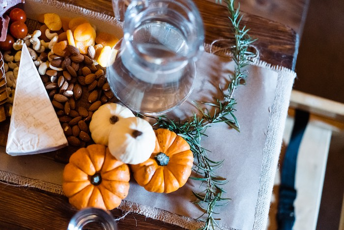 Fall Themed Grazing Tabletop from a My Little Pumpkin's 1st Birthday Party on Kara's Party Ideas | KarasPartyIdeas.com (9)