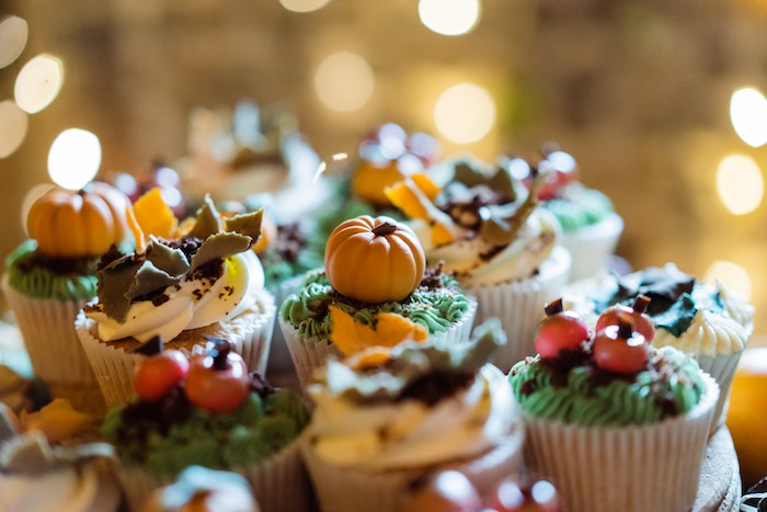 Fall + Pumpkin Cupcakes from a My Little Pumpkin's 1st Birthday Party on Kara's Party Ideas | KarasPartyIdeas.com (22)