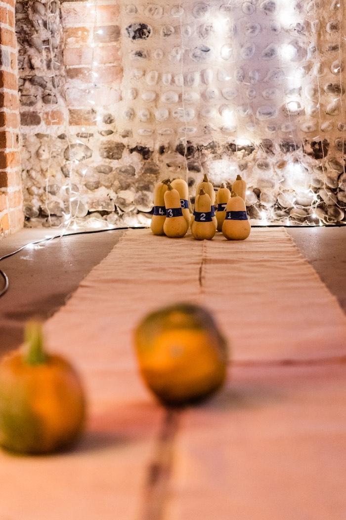 Pumpkin & Gourd Pin Bowling Game from a My Little Pumpkin's 1st Birthday Party on Kara's Party Ideas | KarasPartyIdeas.com (19)