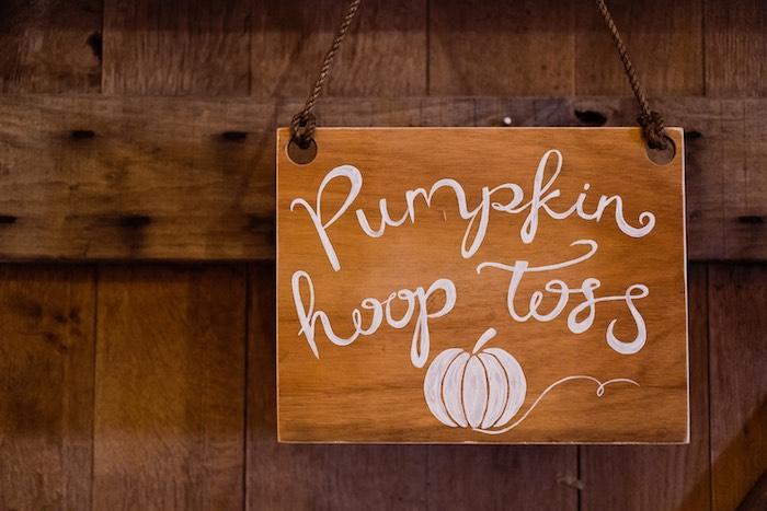 Wood Sign from a My Little Pumpkin's 1st Birthday Party on Kara's Party Ideas | KarasPartyIdeas.com (16)