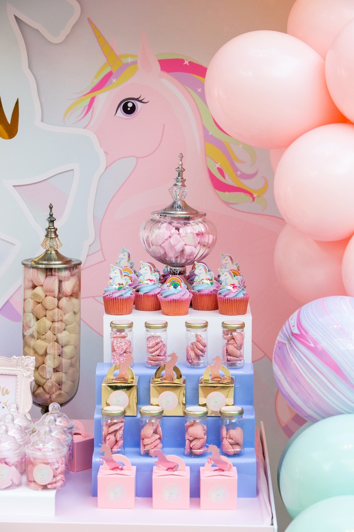 Unicorn Themed Desserts + Sweets from a Pastel Unicorn Birthday Party on Kara's Party Ideas | KarasPartyIdeas.com (9)