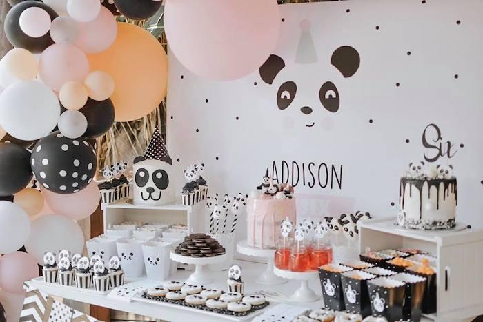 Panda Bear Party Table from a Pink Panda Birthday Party on Kara's Party Ideas | KarasPartyIdeas.com (18)