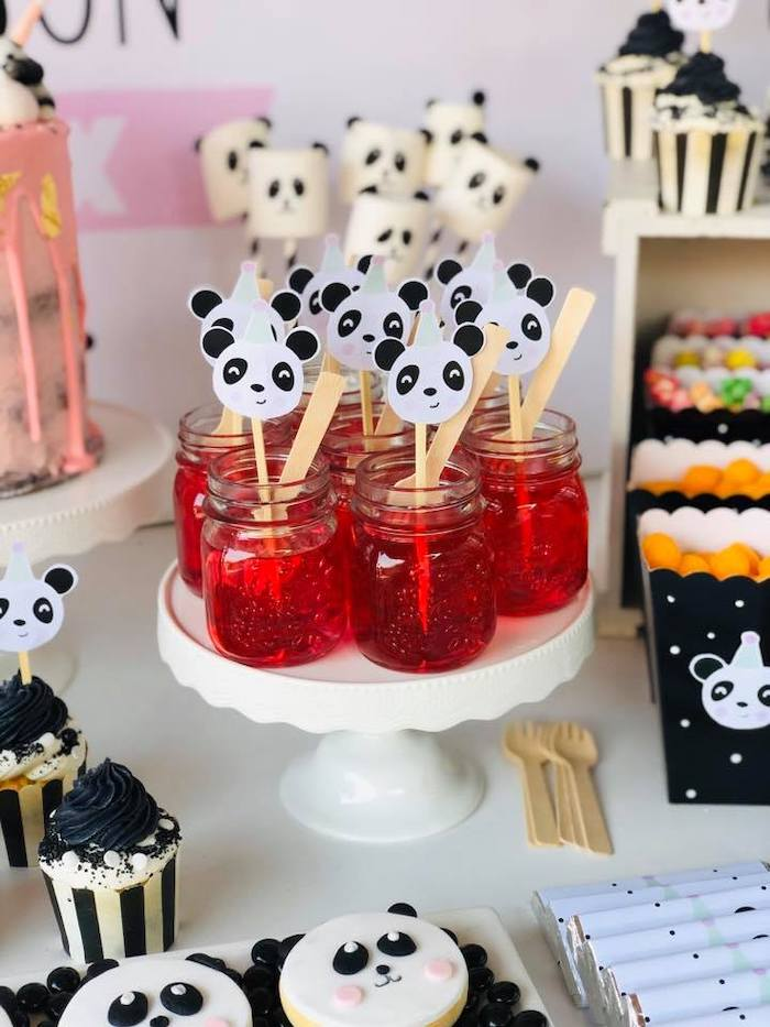 Jello Jars with Panda Bear Toppers from a Pink Panda Birthday Party on Kara's Party Ideas | KarasPartyIdeas.com (16)