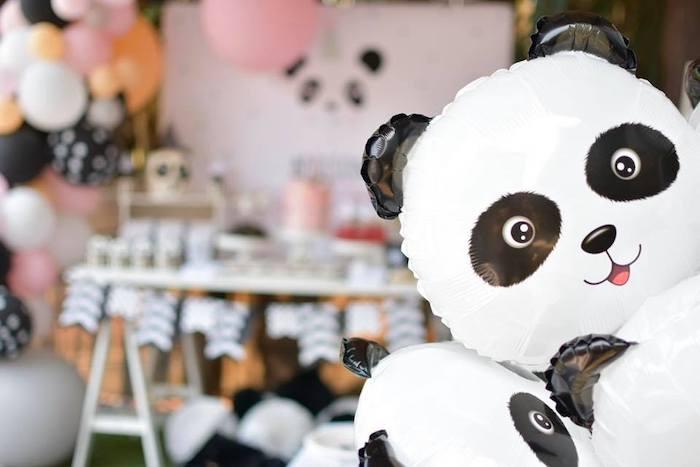 Panda Bear Balloons from a Pink Panda Birthday Party on Kara's Party Ideas | KarasPartyIdeas.com (15)