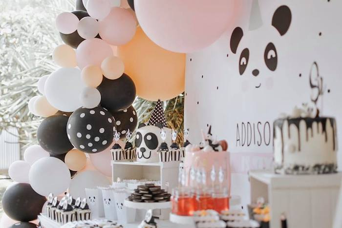 Panda Bear Party Table from a Pink Panda Birthday Party on Kara's Party Ideas | KarasPartyIdeas.com (11)