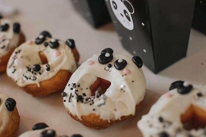 Panda Bear Donuts from a Pink Panda Birthday Party on Kara's Party Ideas | KarasPartyIdeas.com (7)