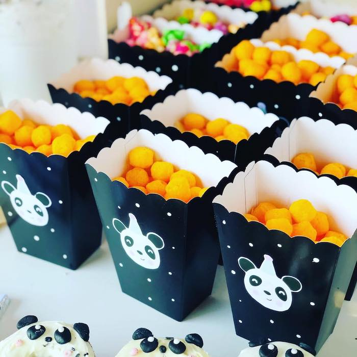 Panda Bear Snack Boxes from a Pink Panda Birthday Party on Kara's Party Ideas | KarasPartyIdeas.com (25)