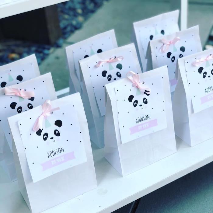 Panda Bear-tagged Favor Sacks from a Pink Panda Birthday Party on Kara's Party Ideas | KarasPartyIdeas.com (23)