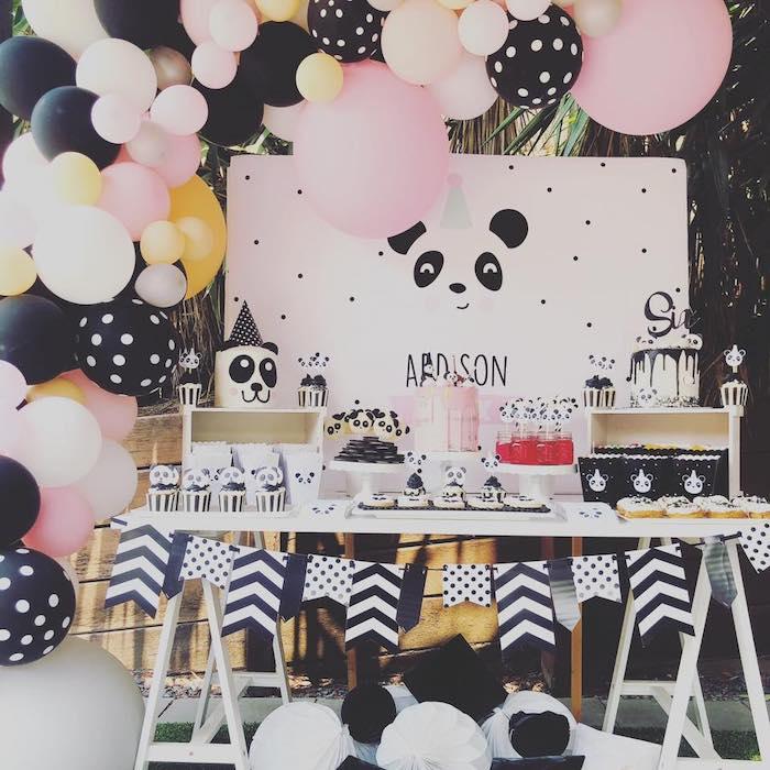 Pink Panda Birthday Party on Kara's Party Ideas | KarasPartyIdeas.com (22)