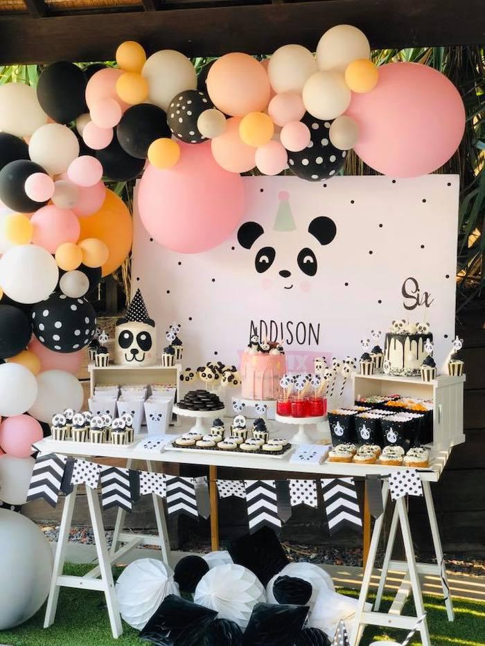 Panda Bear Party Table from a Pink Panda Birthday Party on Kara's Party Ideas | KarasPartyIdeas.com (19)