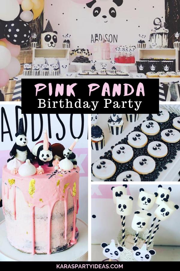 Pink Panda Birthday Party via Kara's Party Ideas - KarasPartyIdeas.com