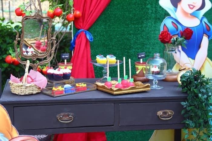Snow White Birthday Party on Kara's Party Ideas | KarasPartyIdeas.com (7)