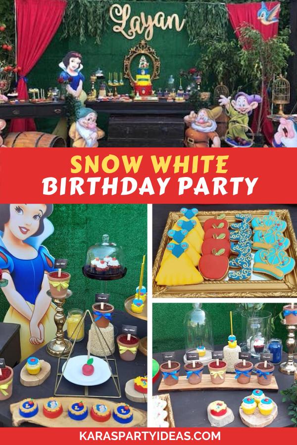 Snow White Birthday Party via Kara's Party Ideas - KarasPartyIdeas.com