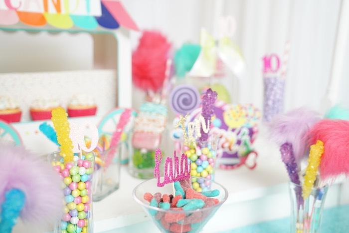Sweet + Candy Buffet from a Sweet Shop Birthday Party on Kara's Party Ideas | KarasPartyIdeas.com (23)