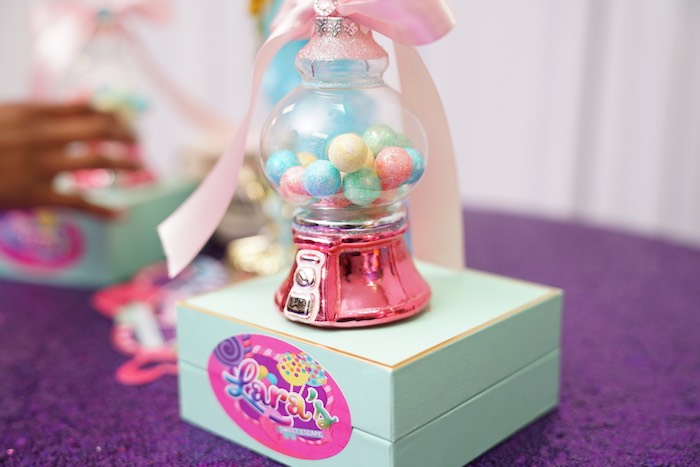 Gumball Machine + Favor Box from a Sweet Shop Birthday Party on Kara's Party Ideas | KarasPartyIdeas.com (21)
