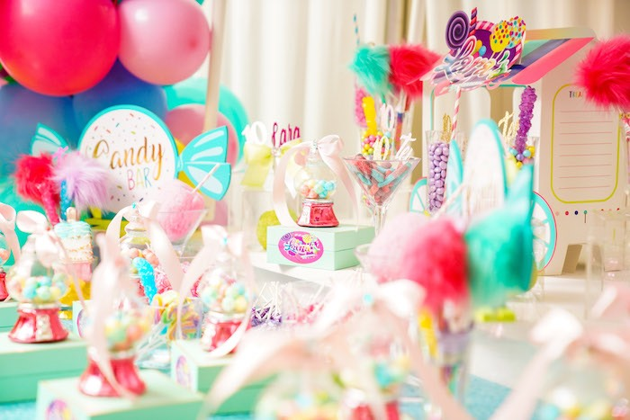 Sweet + Candy Buffet from a Sweet Shop Birthday Party on Kara's Party Ideas | KarasPartyIdeas.com (19)