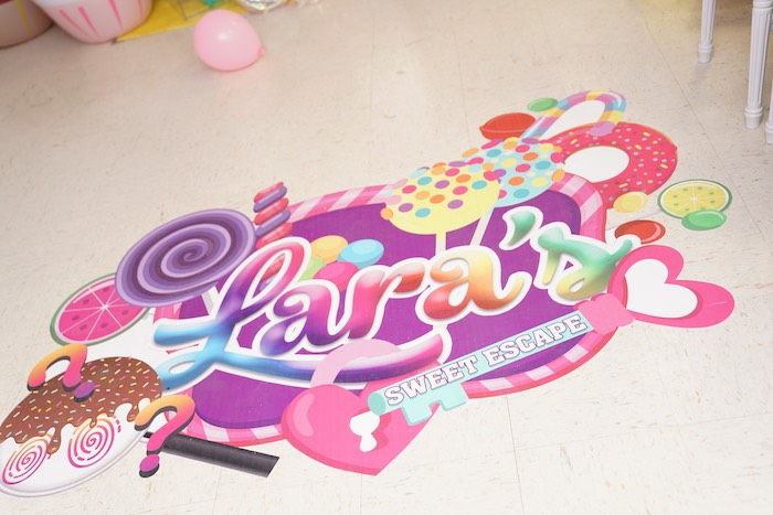 Sweet Shop + Candy Themed Floor Decal from a Sweet Shop Birthday Party on Kara's Party Ideas | KarasPartyIdeas.com (18)