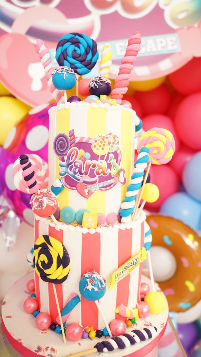 Sweet Shop Cake from a Sweet Shop Birthday Party on Kara's Party Ideas | KarasPartyIdeas.com (9)