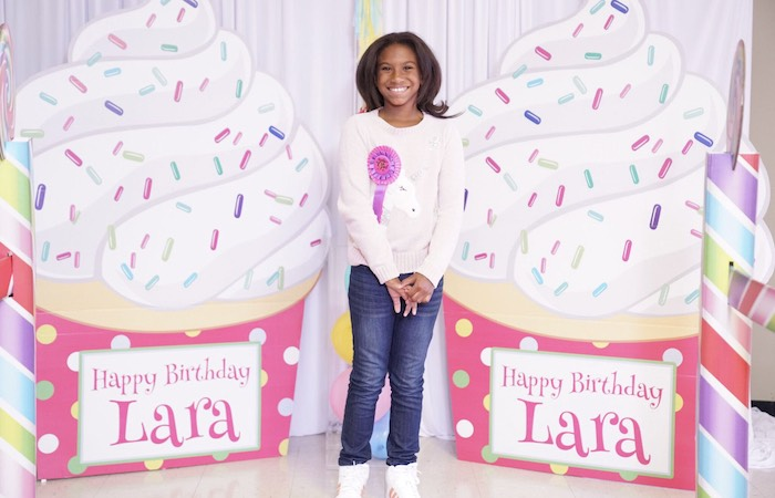 Custom Ice Cream Cone Signs + Standees from a Sweet Shop Birthday Party on Kara's Party Ideas | KarasPartyIdeas.com (5)