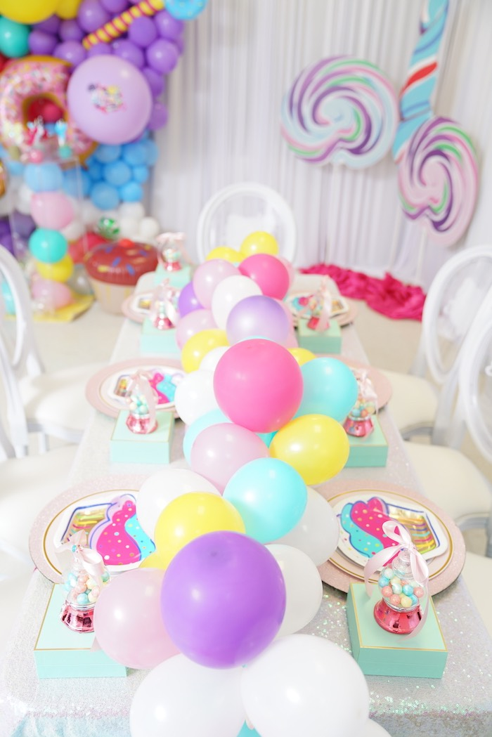 Sweet Shop Guest Table from a Sweet Shop Birthday Party on Kara's Party Ideas | KarasPartyIdeas.com (31)