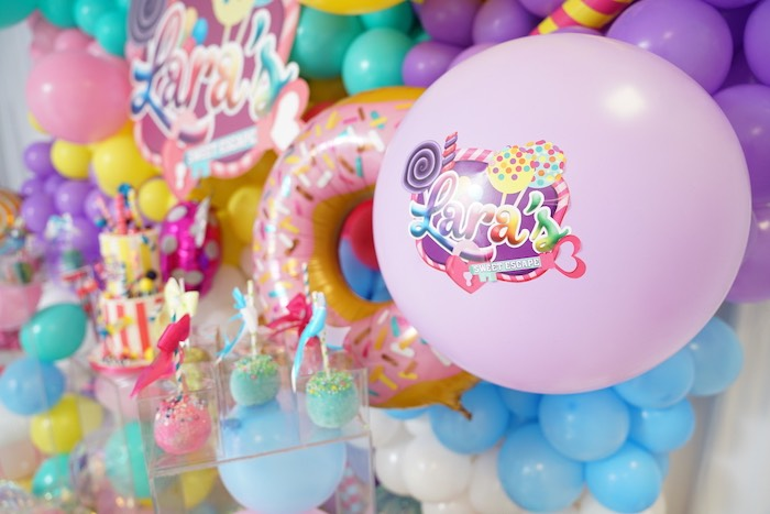 Custom Sweet Shop Balloon from a Sweet Shop Birthday Party on Kara's Party Ideas | KarasPartyIdeas.com (28)