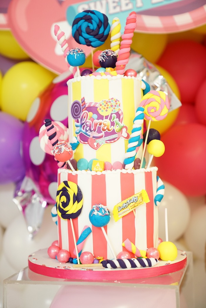Sweet Shop Cake from a Sweet Shop Birthday Party on Kara's Party Ideas | KarasPartyIdeas.com (27)