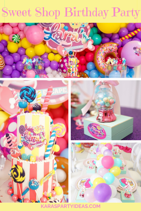 Sweet Shop Birthday Party via Kara's Party Ideas - KarasPartyIdeas.com