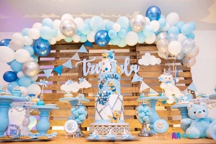 Teddy Bear Themed Dessert Table from a Teddy Bear Prince Birthday Party on Kara's Party Ideas | KarasPartyIdeas.com (18)
