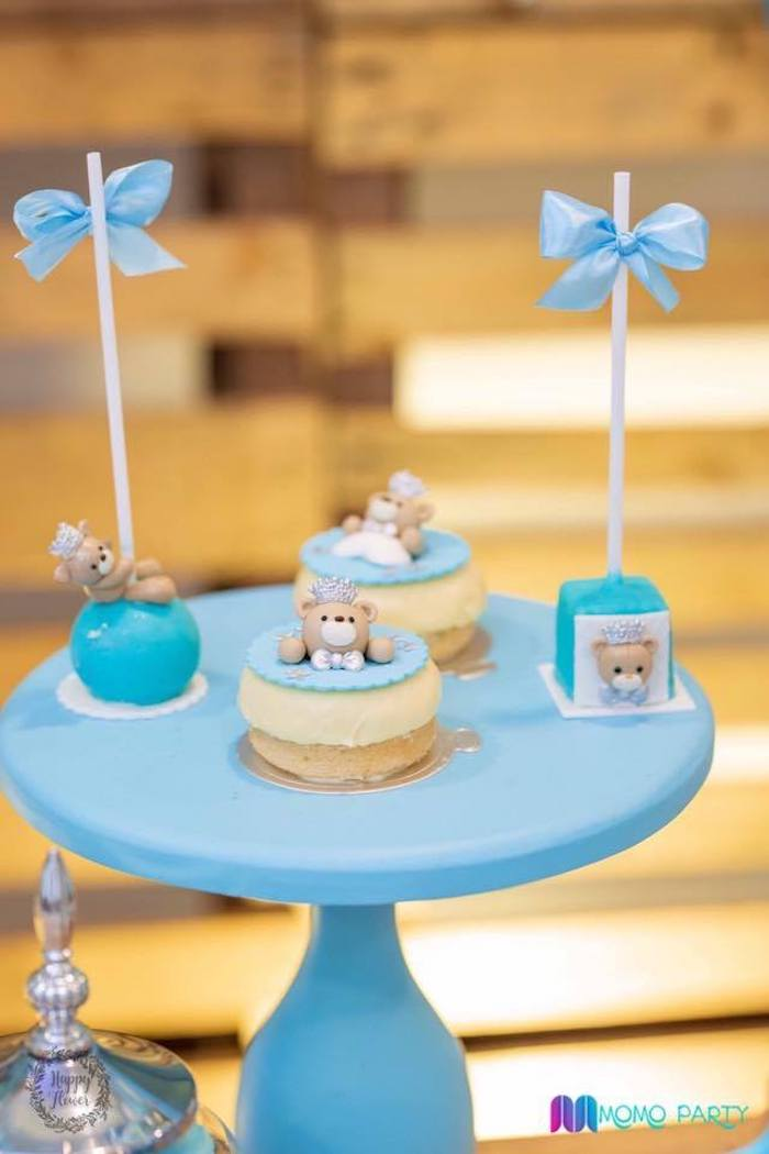 Teddy Bear Cake Pops + Donuts from a Teddy Bear Prince Birthday Party on Kara's Party Ideas | KarasPartyIdeas.com (9)