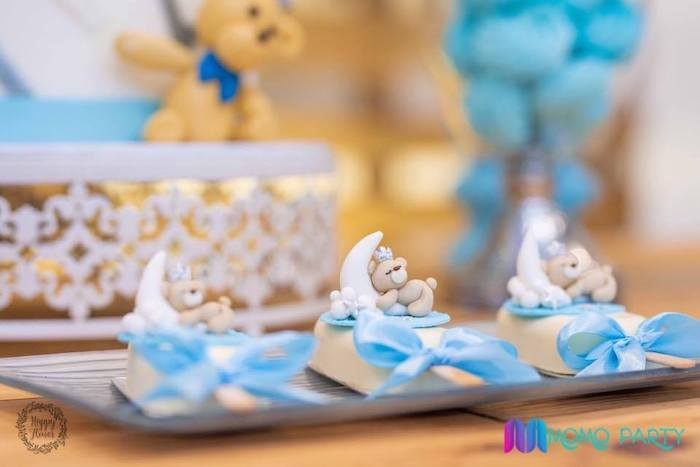 Fondant Teddy Bear Toppers from a Teddy Bear Prince Birthday Party on Kara's Party Ideas | KarasPartyIdeas.com (8)