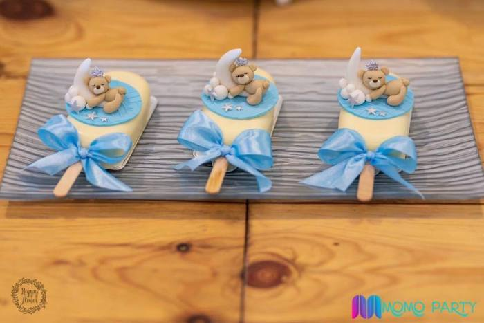 Teddy Bear-inspired Cakesicles from a Teddy Bear Prince Birthday Party on Kara's Party Ideas | KarasPartyIdeas.com (21)