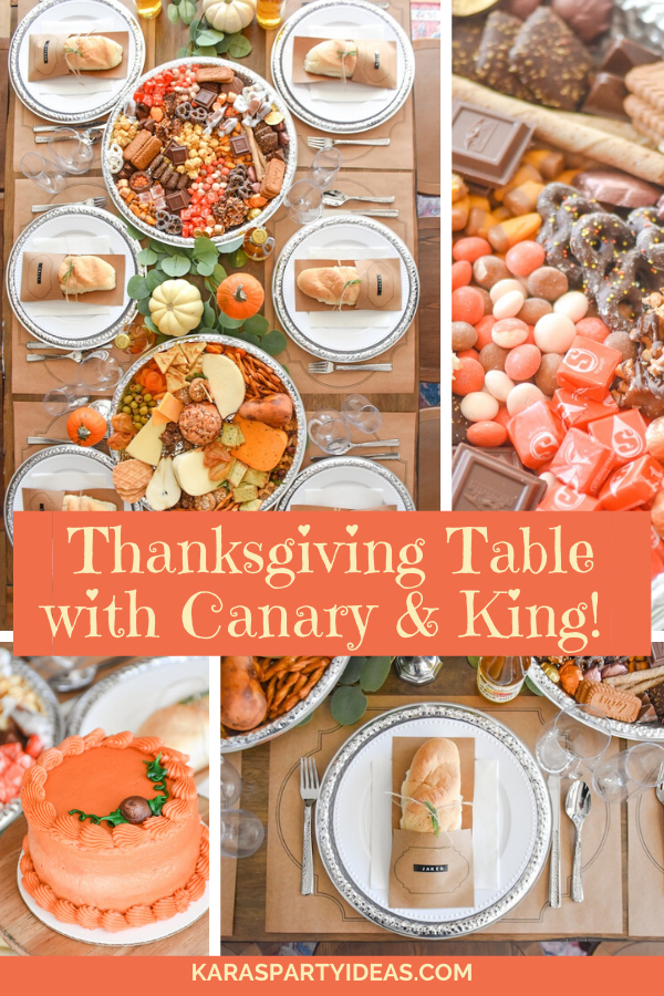 Thanksgiving Table with Canary & King! via Kara's Party Ideas - KarasPartyIdeas.com