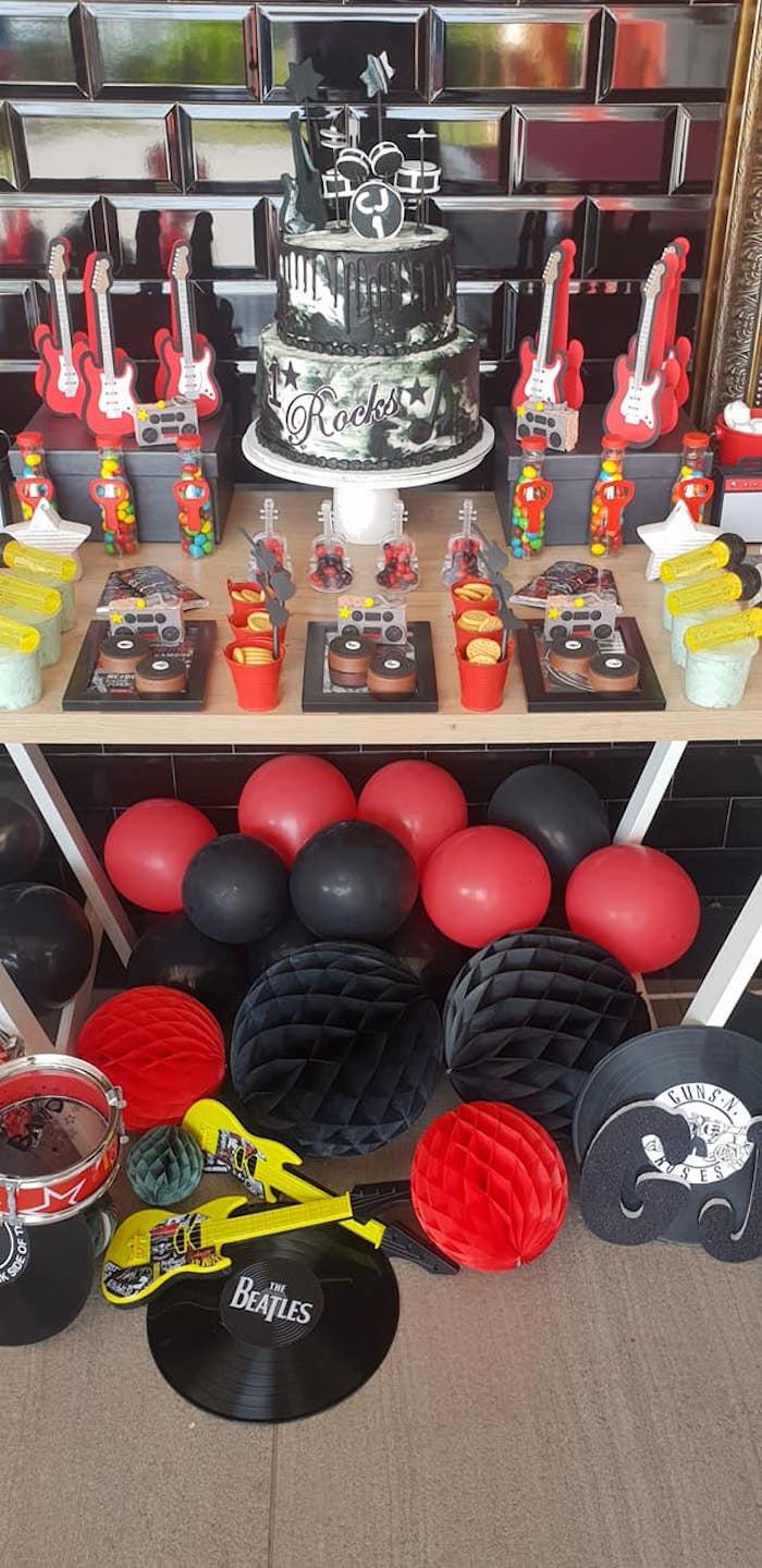 """Born to Rock"" Birthday Party on Kara's Party Ideas   KarasPartyIdeas.com (25)"