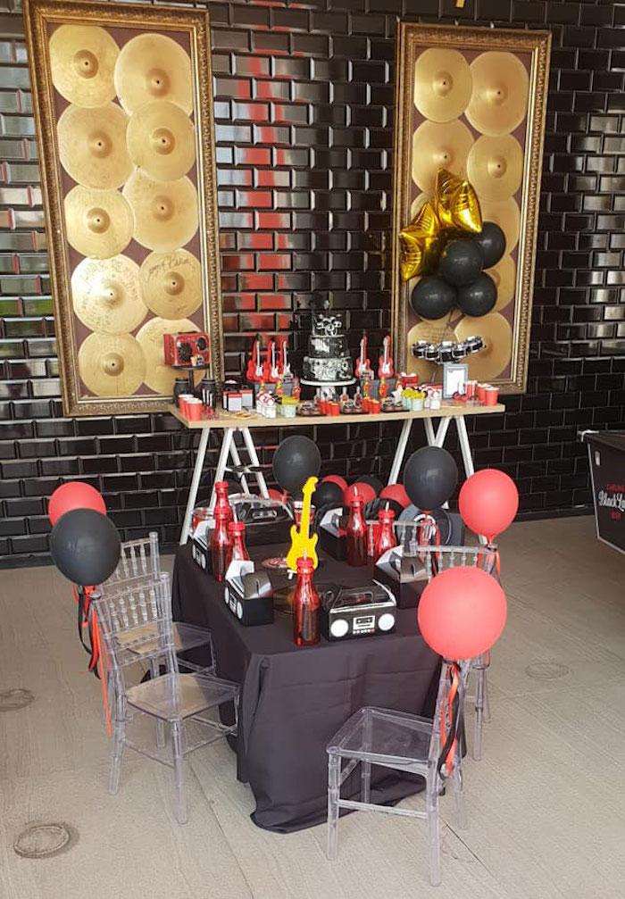 """Born to Rock"" Birthday Party on Kara's Party Ideas   KarasPartyIdeas.com (22)"