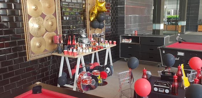 """Born to Rock"" Birthday Party on Kara's Party Ideas   KarasPartyIdeas.com (20)"