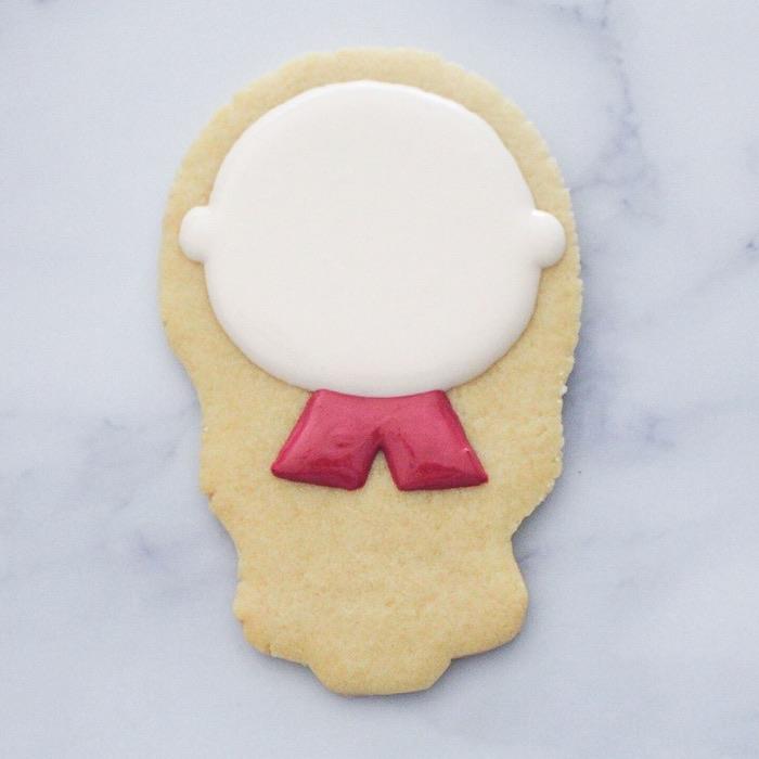 Anna - Frozen Cookie Tutorial on Kara's Party Ideas | KarasPartyIdeas.com