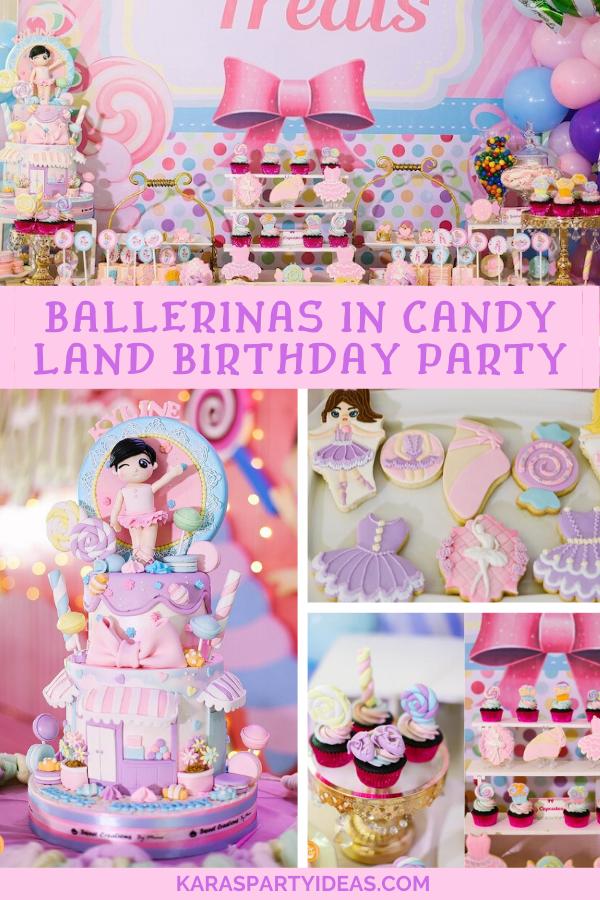 Ballerinas in Candy Land Birthday Party via Kara's Party Ideas - KarasPartyIdeas.com