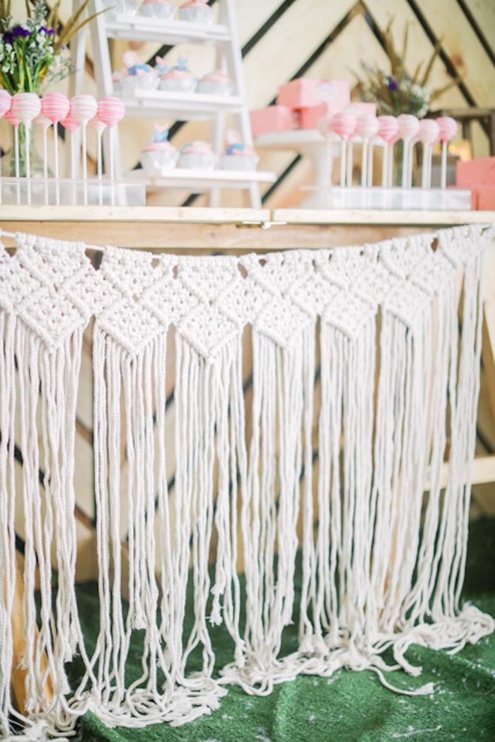 Macrame from a Boho Birthday Party on Kara's Party Ideas | KarasPartyIdeas.com (27)