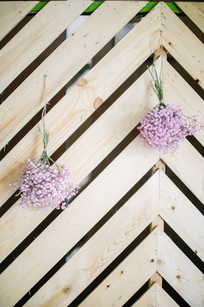 Angled Wood Pallet + Bloom Backdrop from a Boho Birthday Party on Kara's Party Ideas | KarasPartyIdeas.com (24)