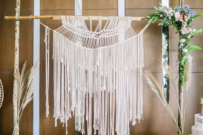 Macrame from a Boho Birthday Party on Kara's Party Ideas | KarasPartyIdeas.com (21)