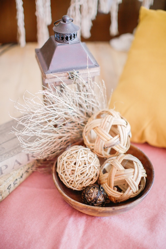 Woven Wooden Ball Decorations from a Boho Birthday Party on Kara's Party Ideas | KarasPartyIdeas.com (20)