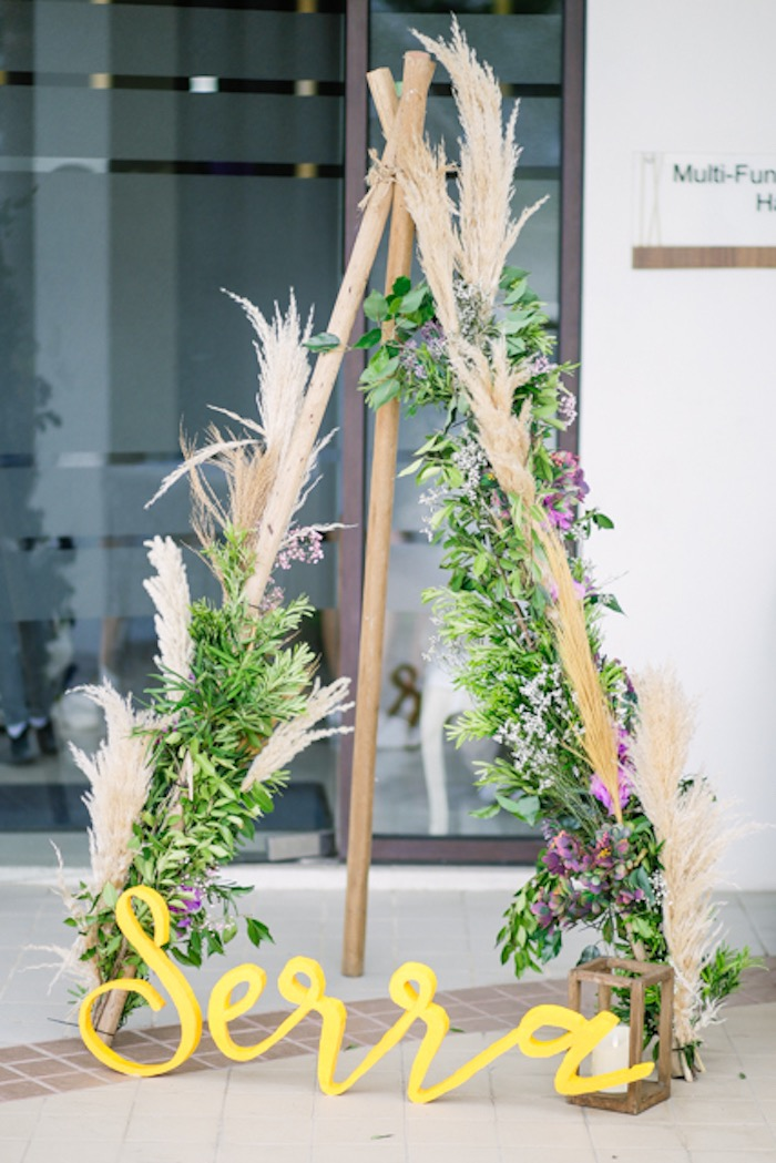 Boho Bloom Teepee from a Boho Birthday Party on Kara's Party Ideas | KarasPartyIdeas.com (11)