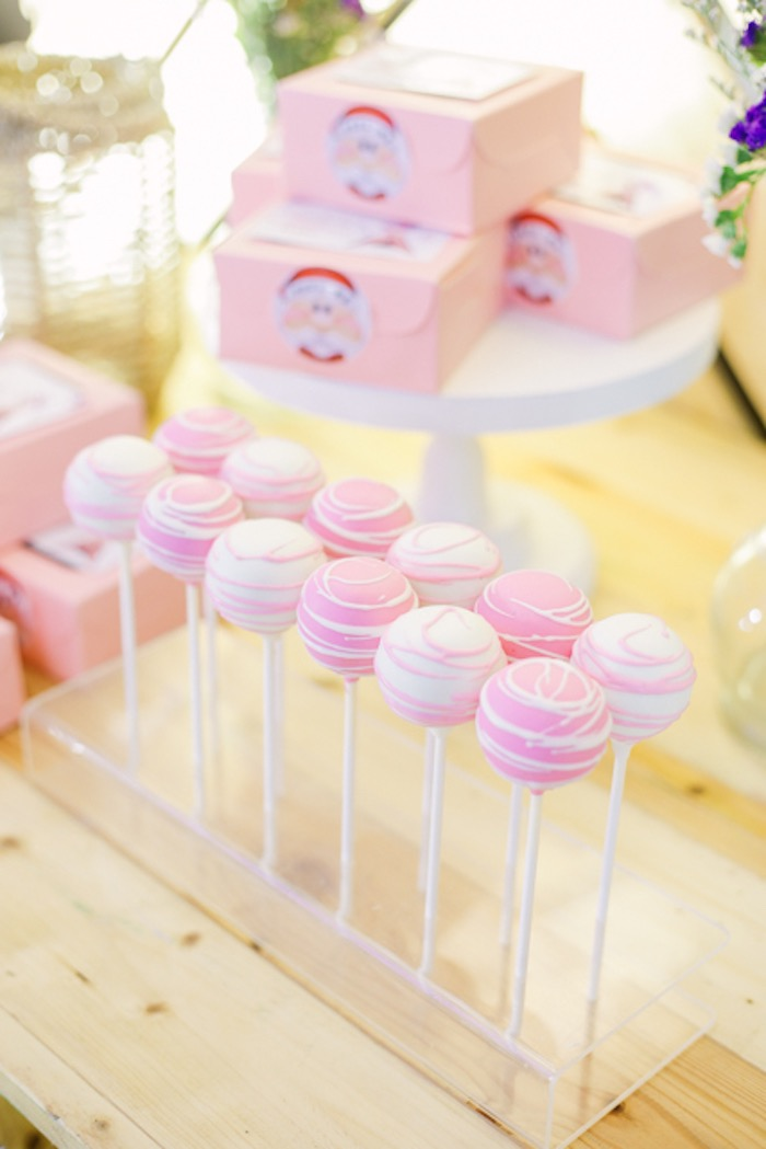Pink + White Cake Pops from a Boho Birthday Party on Kara's Party Ideas | KarasPartyIdeas.com (36)