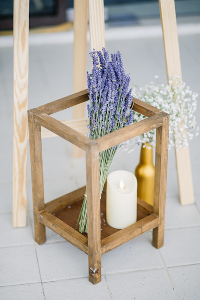 Wood Candle Holder from a Boho Birthday Party on Kara's Party Ideas | KarasPartyIdeas.com (8)